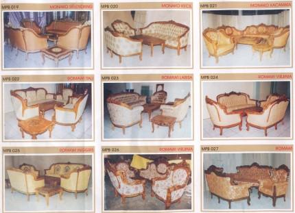 Kursi Sofa Monako dan Kursi Sofa Romawi